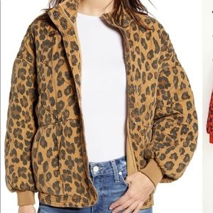 BLANKNYC quilted leopard jacket